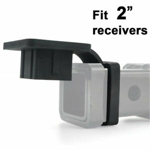 2 Rubber Trailer Hitch Tube Cover Plug Receiver For Mercedes Jeep Truck Toyota