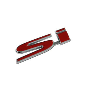 Red Si Bumper Trunk Rear Emblem Decal Sticker Badge For Si Civic Eg Ep3 Bb