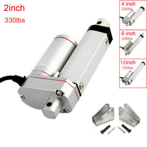 Heavy Duty Electric Linear Actuator 2 4 6 12 1500n 330lbs 12v Volt Dc Motor