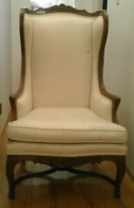 Pair Of Vintage Interior Crafts Chicago Wing Back Chairs