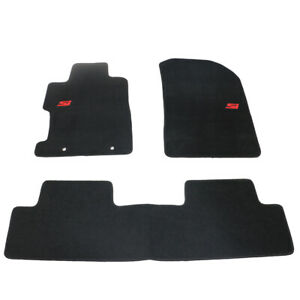 For 06 11 Honda Civic 2dr 4dr Floor Mats Carpets Front Rear Nylon Black W Si