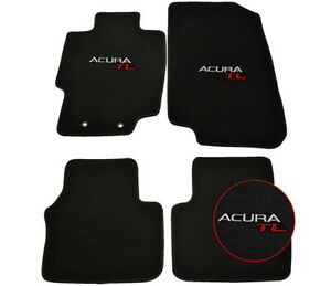 For 04 08 Acura Tl Sedan Floor Mats Carpets Front Rear Nylon Black W Acura Tl