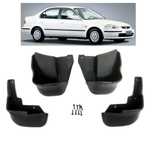 For 1996 2000 Honda Civic Ex Dx Gx Lx Mud Flaps Splash Guards Front Rear 4 Pcs