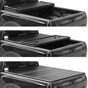 For 2016 2019 Toyota Tacoma Bed Tonneau Cover 5 59 8 60 5 Hard Tri Fold Truck