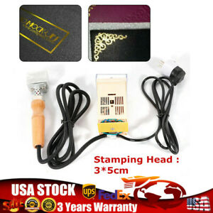 Handheld Hot Foil Stamping Logo Embossing Machine Leather Pvc Stamp 3 5cm 110v