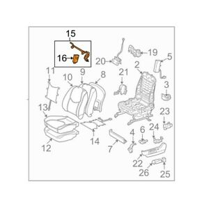 For Toyota Genuine Seat Lumbar Support Cushion Front 7276033060