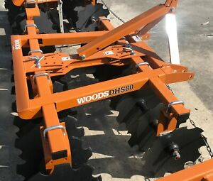 Woods 80 3pt Disc Harrow Dhs80 Standard Woods Orange Color 18 Notched