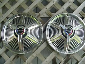 Two 1965 65 Ford Mustang Hubcaps Wheel Cover Center Cap Antique Vintage Classic