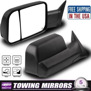 New Tow Mirrors Power Heated For 1998 2001 Dodge Ram 1500 2500 3500lh