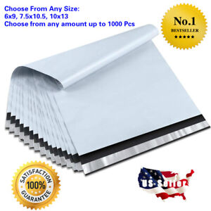 Poly Mailers Envelopes Self Sealing Plastic Mailing Bags Size 6x9 7 5x10 5 10x13