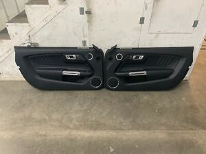 2015 2017 Ford Mustang Gt V6 Ecoboost Lh Rh Leather Door Panels Pair Oem