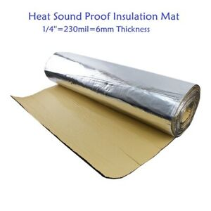 Heat Insulation Sound Dampening Mat Thermal Block Deadener Adhesive 39 X88