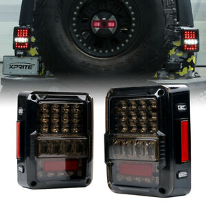 Xprite Led Tail Lights W Smoked Lens Running For 2007 2018 Jeep Wrangler Jk