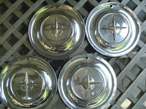 1954 54 Chrysler New Yorker Fifth Ave Hubcaps Wheel Covers Center Caps Vintage