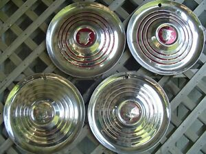 1952 53 Vintage Mercury Montclair Monterey Colony Park Lane Hubcaps Wheel Covers
