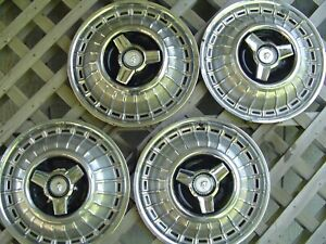 Vintage 1966 66 1967 67 Ford Mercury Marquis Hubcaps Wheel Covers Center Caps