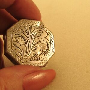 Antique Victorian Pill Holder Box Sterling