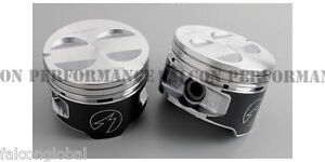 Ford 302 5 0 Hypereutectic Coated Skirt Pistons Set 8 030 W Moly Rings 1996 2000