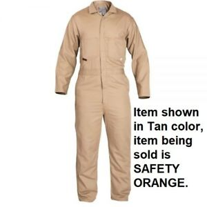 Stanco Nomex Nx4681 Orange Full featured Contractor Style Coverall 2xl New