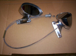1970 Challenger Cuda Racing Mirrors Chrome Lh Rh