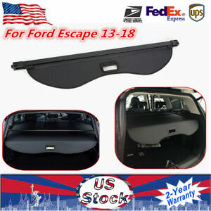 For 2013 2016 Ford Escape Rear Trunk Retractable Cargo Cover Luggage Shade Black