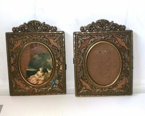 Pair Of Ornate Metal Picture Frames Vintage Made In Italy