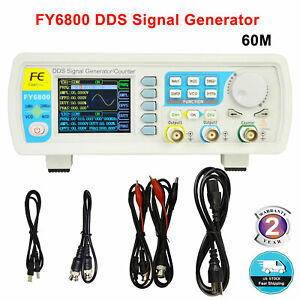 60mhz Dual channel Arbitrary Waveform Dds Function Signal Generator Fy6800 Usa