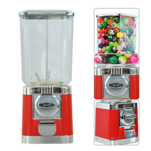 Gumball Durable Metal Candy Vending Machine Canister Capsule Dispenser Removable