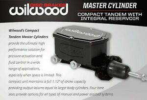All New Wilwood Aluminum Compact Tandem Master Cylinder 1 Bore