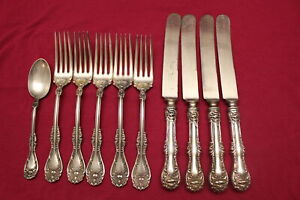 Antique Wm Rogers Hanover Silverplate Dinner Forks Teaspoon Knives