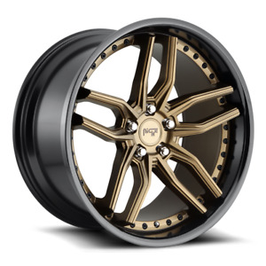 19 Niche Methos M195 Bronze Wheels Rims Fits Ford Mustang Gt Pp Ecoboost S550