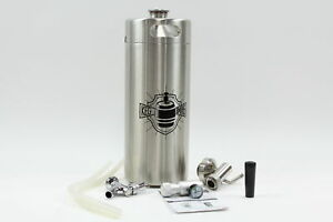 Keg Smiths 128 Oz Portable Draft Keg System Co2 Regulated Stainless