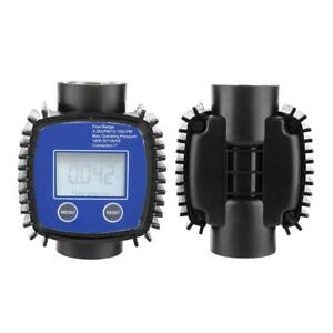 Digital Display Accuracy Water Diesel Turbine Flow Meter 1in Internal Thread