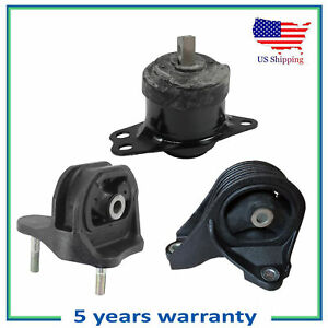 3pcs Engine Motor Mount For 2013 2017 Honda Accord 2 4l 65054 65040 9821 Auto