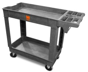 Wen 73009 500 pound Capacity 40 By 17 inch Two shelf Service Utility Cart