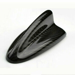 Universal Fitted Real Carbon Fiber Shark Fin Roof Decoration Antenna Style A