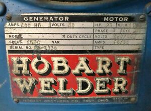 Industrial Hobart Welder With Cart Tig 250 250 Ac 622944 9681