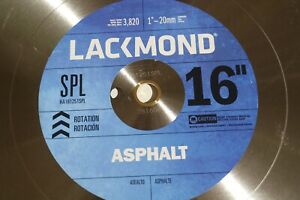 Lackmond 16 Asphalt Block Wet Or Dry Segmented Diamond Saw Blade Made In Usa