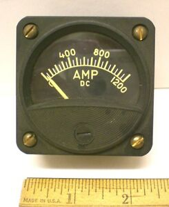 Dc Ammeter 0 1200 Ampsdc Military Sealed 2 1 2 Meter Ge New Made In Usa