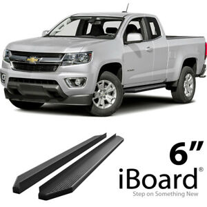 Iboard Black Running Boards Fit 15 20 Chevy Colorado Gmc Canyon Extended Cab