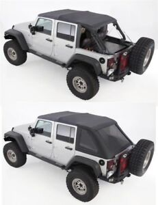 Black Frameless Top Comes W hardware 07 18 Soft Top For Jeep Wrangler Unlimited