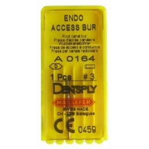3 X Endo Access Bur Maillefer Endodontic Dental Root Canal Access By Dentsply