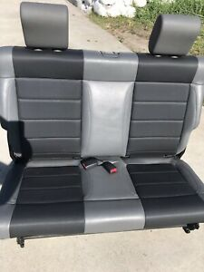 2007 2018 Jeep Wrangler Jk Rear Bench Seat In Grey Vinyl 2 Door Jeep Seats