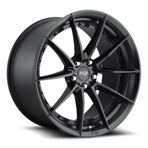 19 Niche Sector M196 Black Wheels Rims Fits Ford Mustang Gt Pp Ecoboost S550