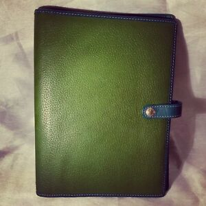 A Very Cute Green Leather Coach Book Cover Notebook Cover Planner