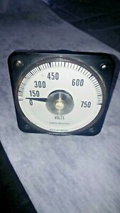 Vintage General Electric Ge Voltmeter Gauge 150v 5 1 53 110282 Tested Steampunk
