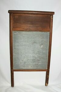 Vintage Antique Nice Federal Washboard Co Zinc Washboard Laundry Scrub Board