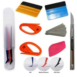 Car Vinyl Wrapping Window Tint Film Install Tool Squeegee Applicator Kit