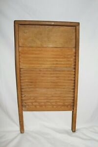 Vintage Antique Nice Federal Washboard Co Wooden Washboard Laundry Scrub Board