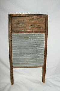 Vintage Antique Nice National Zinc King Top 701 Washboard Laundry Scrub Board
